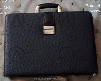 Genuine Ostrich Leather Briefcase