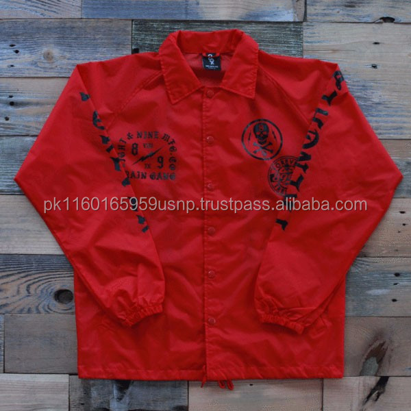 Wholesale Custom coach jackets, Custom embroidered windbreakers lightweight coaches jackets