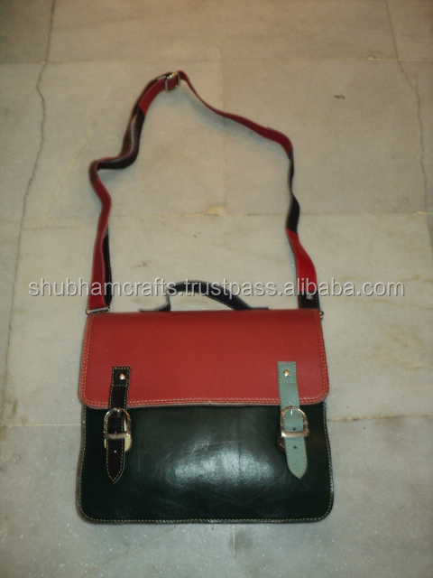 new funky patchwork multi colours leather shoulder bags