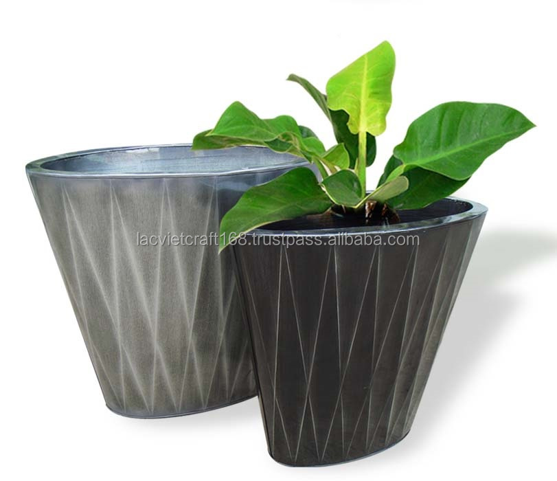 High quality best selling eco friendly Set of Round Zinc flower vase from Viet Nam