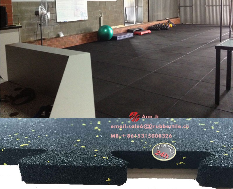 Thick Driveway Commerical Rubber Floor Tiles Gym Equipment