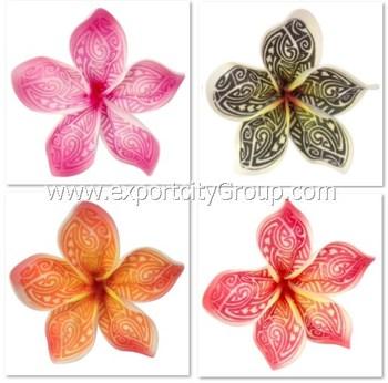 Hawaien Mousse Fleur Plumeria Tatouage Tribal Imprime Ka 4 Pouces