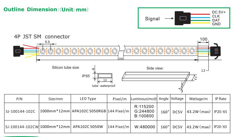 Digital Led Pixel Light DATA And CLOCK Seperate – APA102C
