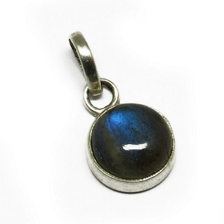 Round Shape Blue Fire Labradorite 925 Gemstone Silver Pendant, Silver Jewelry Wholesaler, Sterling Silver Jewelry