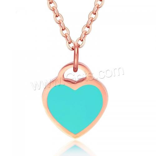 New Stainless Steel jewelry set Necklace Heart rose gold necklace