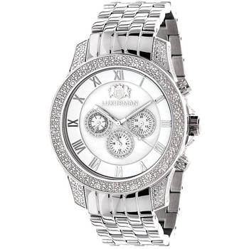 Hedendaags Heren Diamanten Horloge Luxurman 0.5ct Middelgrote - Buy Diamant XQ-44