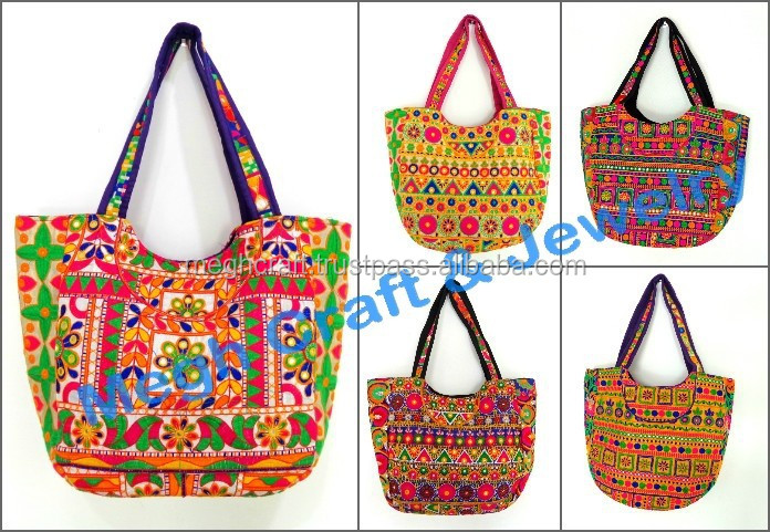 Indian Whole Banjara Handbags Ethnic Vintage Tribal Kutch Handwork Boho Bag Beach Embroidery Suzani Handbag