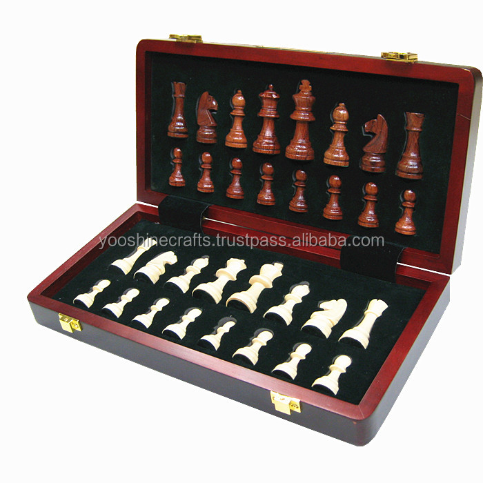 Chess set02, high quality 30cm wooden chess box, games, Magnetic chess set