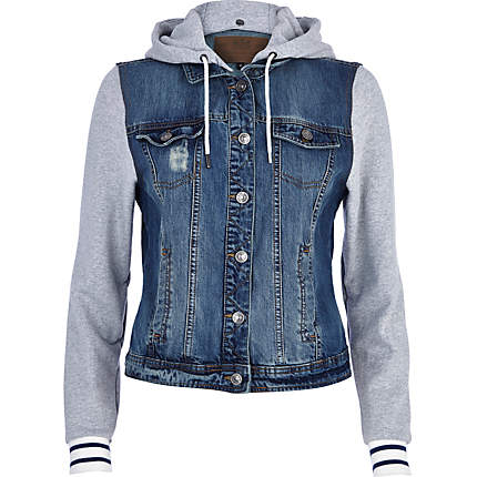 Jean Jacket With Hoodie For Women, Jean Jacket With Hoodie For ...