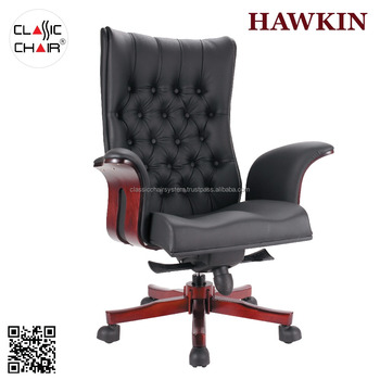 Swivel Wooden Luxury Executive Office Chair Malaysia