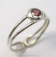 925 Sterling Silver Original GARNET GEMSTONE Toe Ring