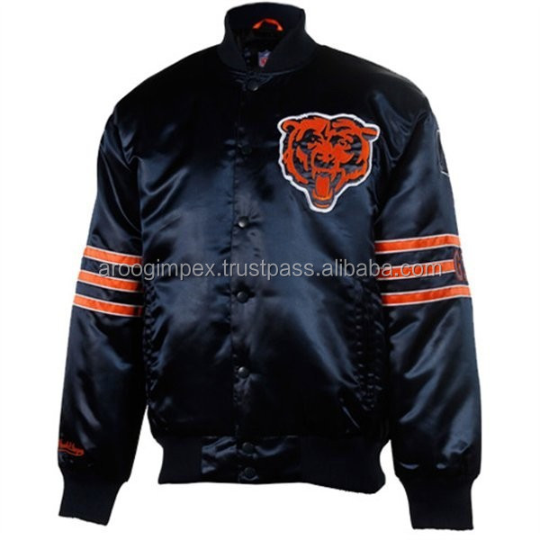 Exclusive satin varsity jacket