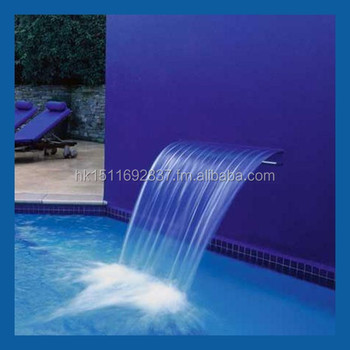 Diy Swimming Pool Waterfall Kit Remote Control Led Waterfall Kit For Pond Waterblade For Pool Garden Water Feature Buy Pool Waterfall Kit Product On
