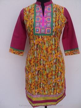 Hand Embroidery Designs For Kurtis Latest Cotton Kurti And Blouses