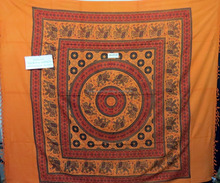 FLORAL Mandala Turkish round beach towel Hippie embroidered Handcrafted Indian tapestry