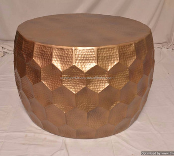 Kupfer Gehämmert Antike Metall Herz Tisch