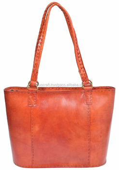 Real Leather Colorful Handbags From Pushkar,India Venuscrafts ...