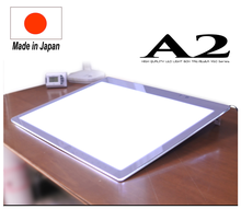 Convenient, and Easy to use, Tilt angle adjustment ,A2 LED Tracing table with 1 year warranty, made in Japan