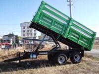 8 Tones Farming Trailer Agriculture Tools Tandem Type Double Axle Rear or Side Tipping Trailer