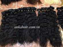 Grade 12''-24'' virgin Vietnam human hair weft curl Vietnam human hair wet