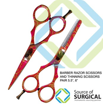 Barber thinning Scissors Pair of Barber Hair Cutting Scissors Thinning Shears