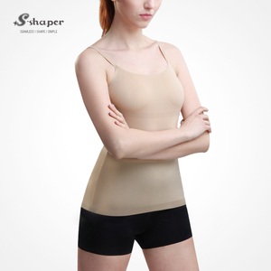 S-SHAPER Seamless Camisole Undershirt With Strap Body Shaper Vest