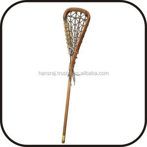 Lacrosse Stick Wooden With Leather String
