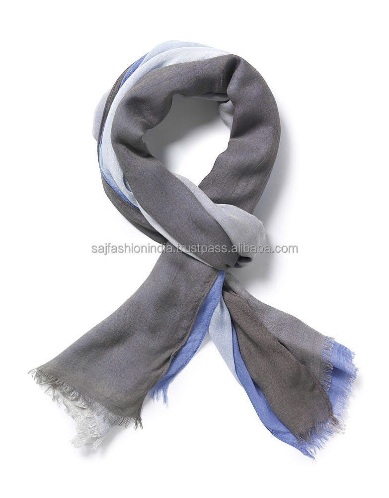 Ombre Watercolor Wash Crinkle Scarf in Multiple Colors 2017