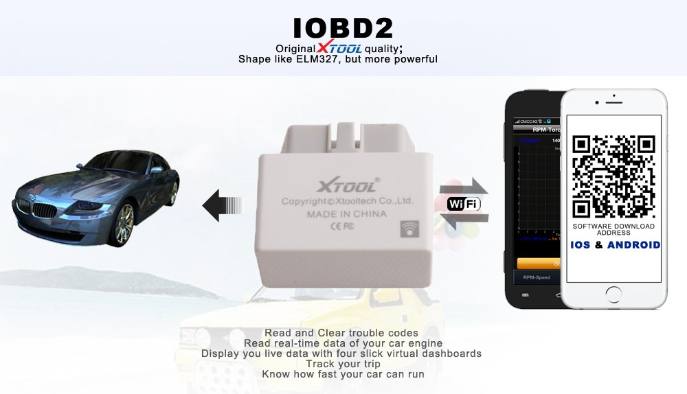Iobd2 Wifi Obd2 Eobd Scanner For Apple Ios And Android Via Wi-fi ...