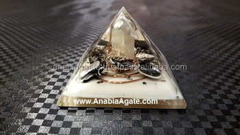 orgone pyramid Energy healing with natural crystal point : Wholesale orgone pyramid
