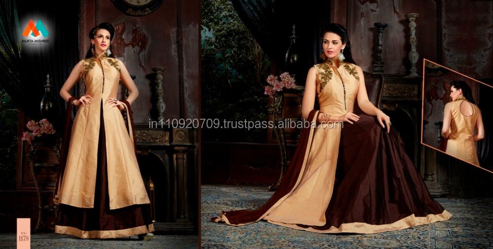 Indo Western Designer Lehanga Style Suit - Buy Salwar Kameez Online ...