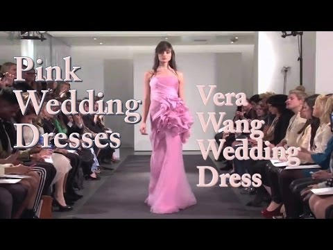 Vera Wang Pink Wedding Dress - Vera Wang All Pink Wedding Dress Collection 2014