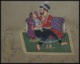 Mughal King Queen Harem India Art Love decor Indian Miniature Painting