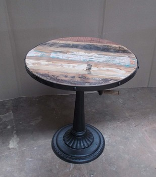 Industrial Antique Pub Tables Cast Iron Base Cafe Furniture