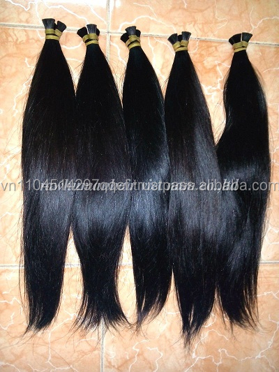 Hot sale ! Completely Human Bulk Hair in Single Drawn 100% Remy Virgin Hair