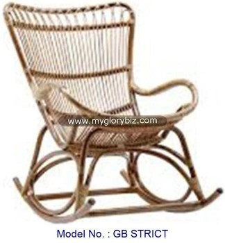 Classic Rocking Chair, Rattan Indoor Home Furniture