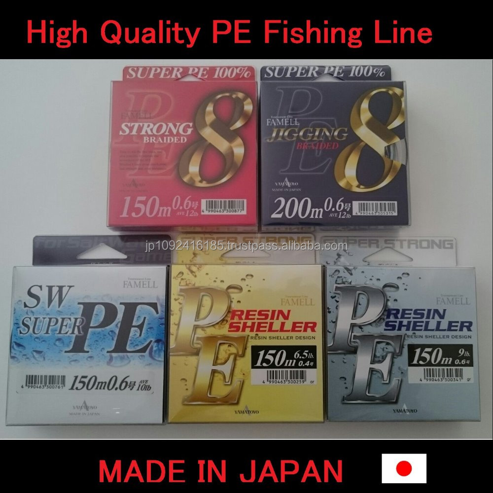 High quality and Strong fishing line 8 braid made in Japan quick delivery