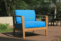 lounge sofa set MIAMI - 100% recycled pine wood in color teak