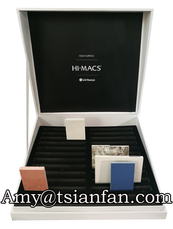 Custom new product marble stone sample display box