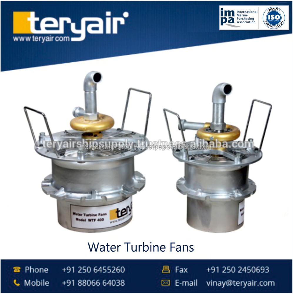 High Performance Water Driven Turbine Fans Manufacturer