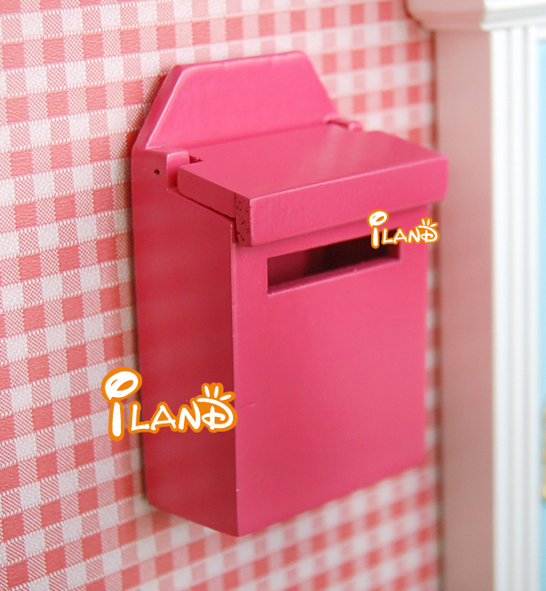 Letter Box Cover B Q: Small Letter Box Mini Mailbox Dollhouse Wooden Post Box
