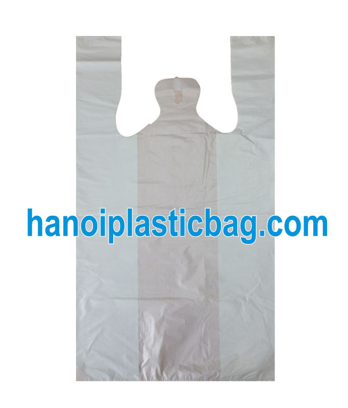 Compeitive price Fruit white LDPE t-shirt bag