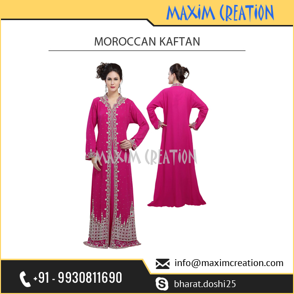 Best Selling Long moroccan Kaftan Dress from Top Brand of India