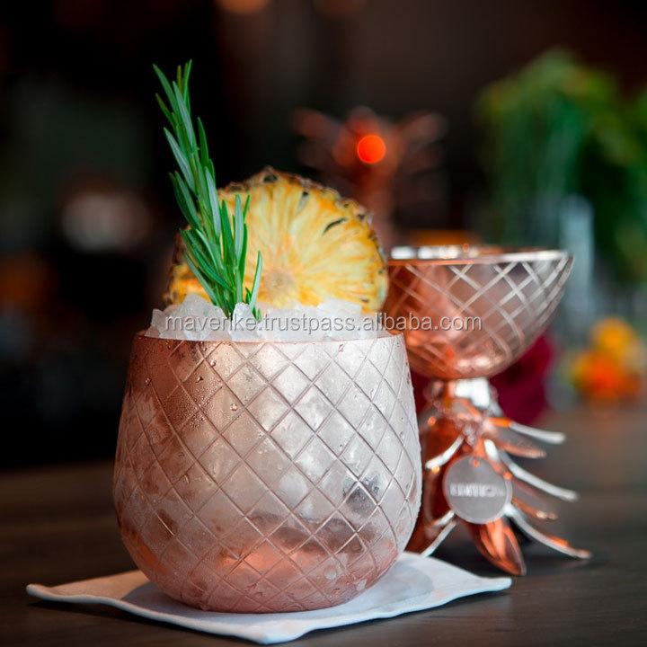 rose or cocktail d 39 ananas tasse ananas seau glace pour bar tasse id de produit 50032798548. Black Bedroom Furniture Sets. Home Design Ideas
