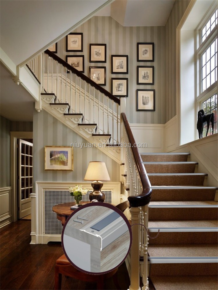 Never Miss Engineered Wood Flooring Black Metal Aluminum Laminate Stair  Nosing For Floor Tile And Carpet