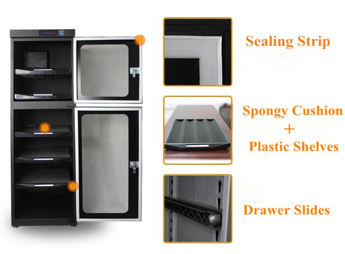 Humidity Control Photography Equipment Camera Lens Storage Cabinet