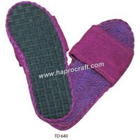 Vietnamese jute flip-flops for inside home, hotel/ Ladies fashion flip flop foot wear rubber soles