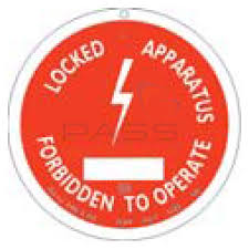 Catu Am-467-gb Aluminium Round Lockout Warning Sign