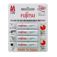 Fujitsu AA Rechargeable NiMH 2000mAh Batteries - HR-3UTCEX Pack of 4