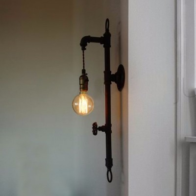 Pipe Lighting Brass Cages Wall Art Steampunk
